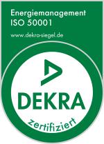 DEKRA Zertifikat ISO 50001